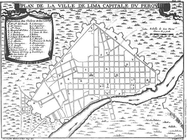 Historia De Lima Virreynal Planos De La Ciudad De Lima