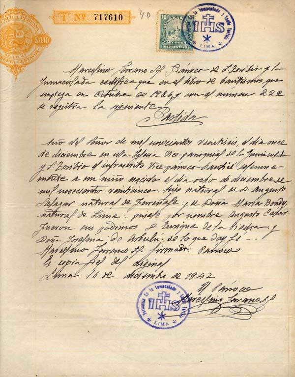 Requisitos Matrimonio Catolico Bogota : Partida de bautismo